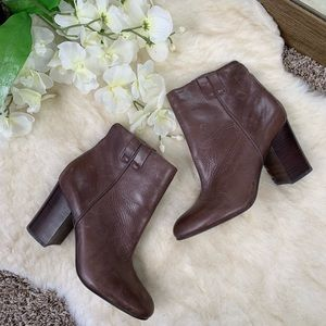 Sam Edelman Brown Leather Booties 8.5